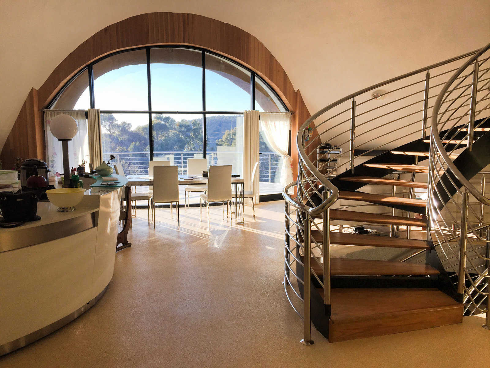 interior completed in australia dome home monolithic dome institute