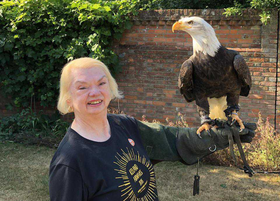Margaret and the bald eagle