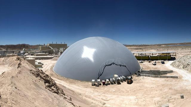 Newly inflated Airform at Pabco Gypsum in Las Vegas, Nevada.